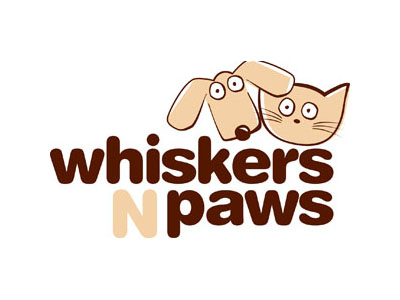 Whiskas and paws logo print